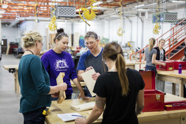 Photo of women in trades course